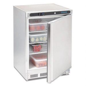 polar-stainless-steel-under-counter-fridge-open