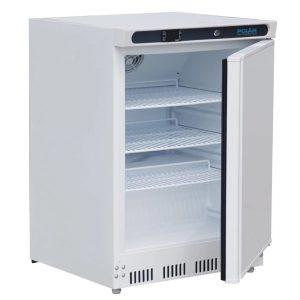 undercounter fridge white open CD610