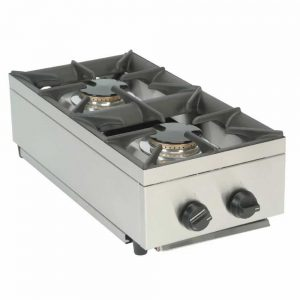 2 burner lpg hob mobile catering equipment