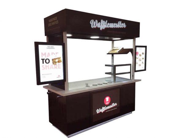 custom waffle catering cart