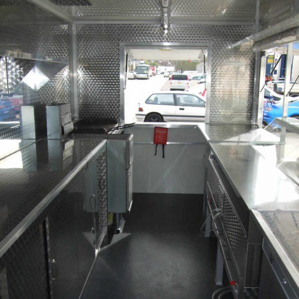 catering van conversion inside kitchen