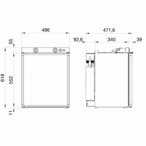 3 way lpg fridge dimensions