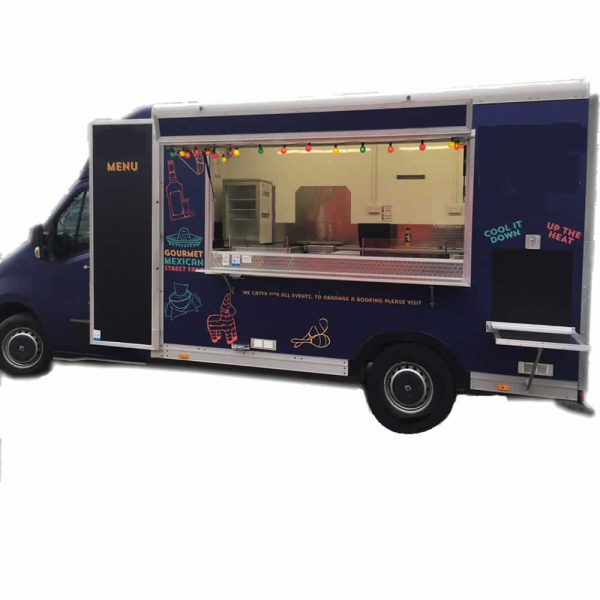 mexican food catering van