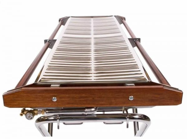 lpg gas barbecue folding fron view