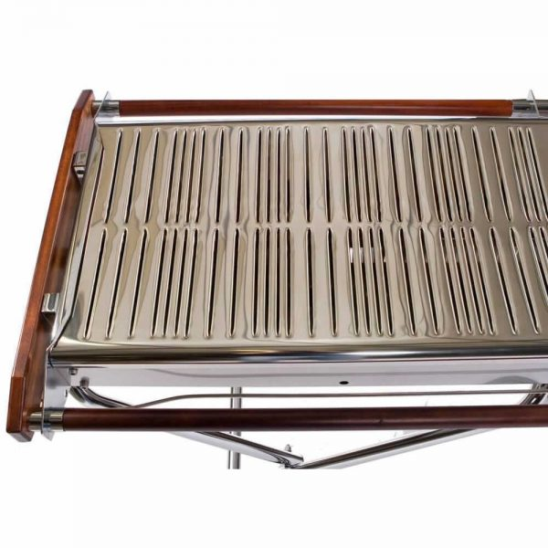 gas barbecue folding front rack