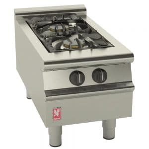2-burner-propane lpg boiling top catering equipment