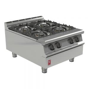 4 burner propane lpg boiling top catering equipment