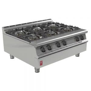 6-burner-propane-lpg-boiling-top- catering equipment