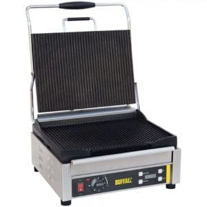 large contact grill ribbed electric catering equipment
