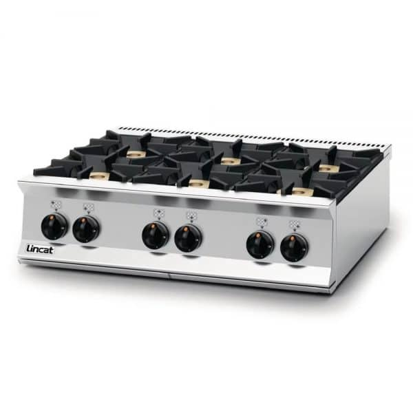 propane gas 6 burner-boiling top left catering equipment