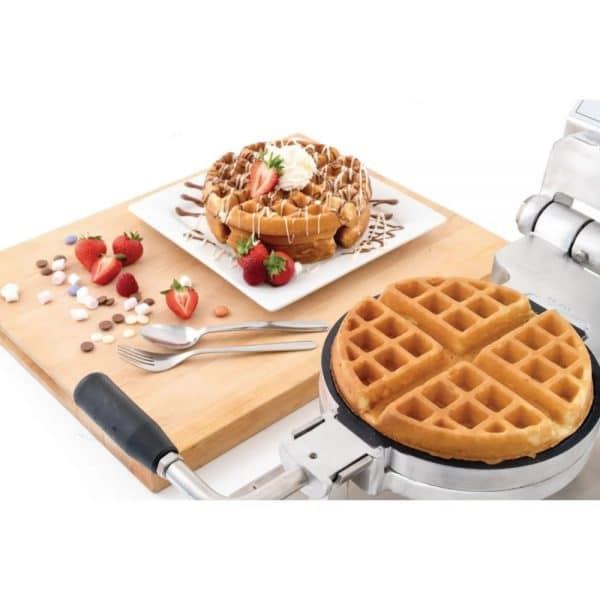 professional round belgian commercial waffle maker