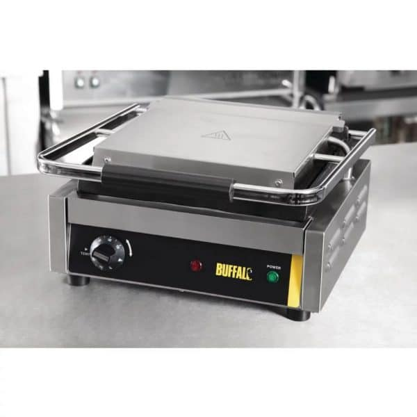 single bistro contact grill ribbed catering equipment