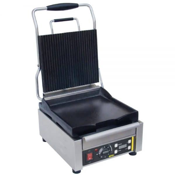 single contact grill ribbed top catering equipment