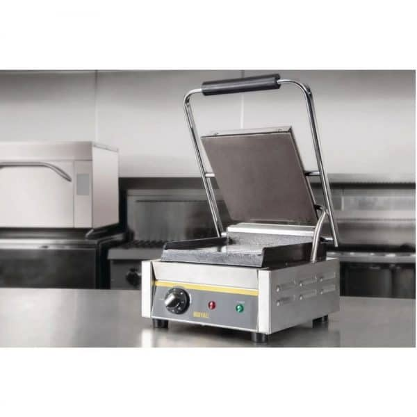 single flat plate contact grill catering equipment