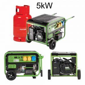 lpg gas generator 5kw