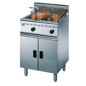gas-propane-fryer-twin-basket-free-standing-commercial fryer