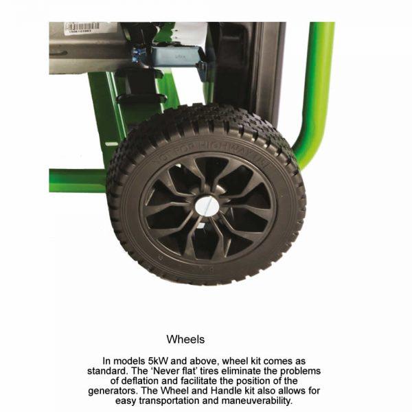 lpg generator wheels for easy moving