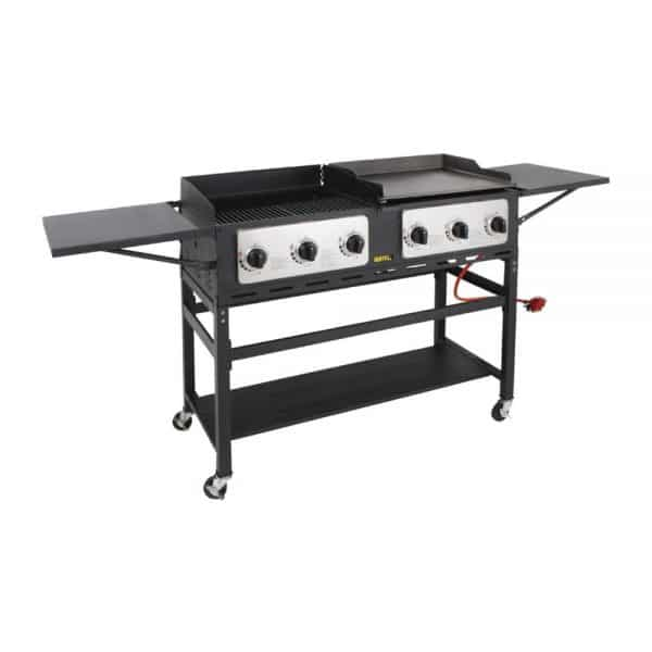 propane-6-burner-combi-BBQ-grill-and-griddle front