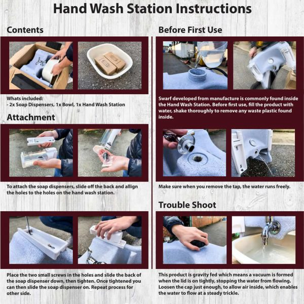 Instructions for Hand Wash Station-1