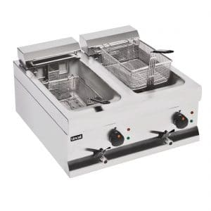 electric lincat fryer twin baskets twin tanks 2x9ltr