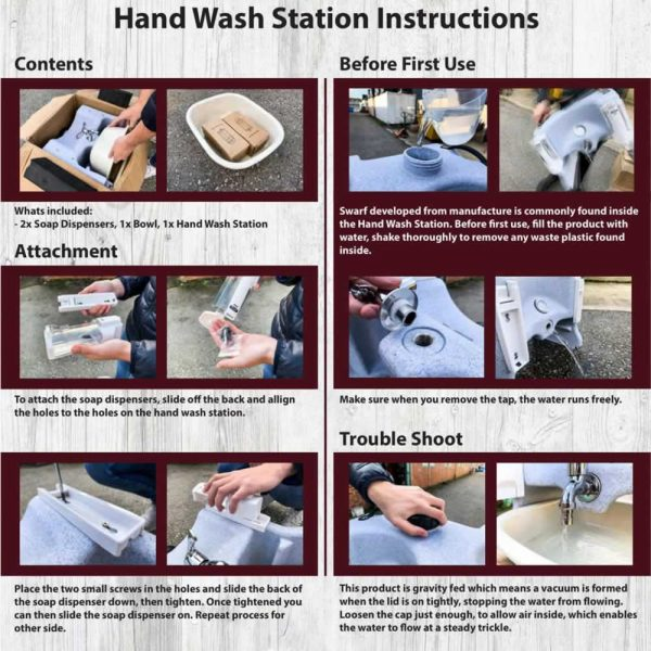 hand wash instructions