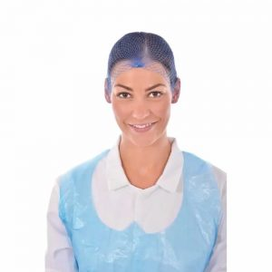 blue unisex hair net