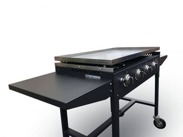 gas griddle side with tables