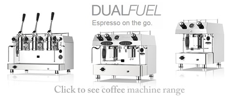 dual fuel coffee machines on the go