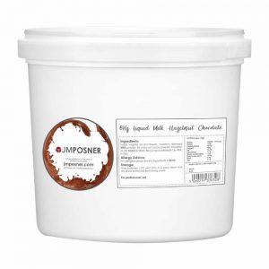 liquid milk hazelnut chocolate
