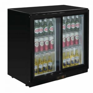back bar cooler extra wide